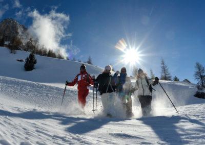 Séjour raquette à neige avec l'ESF Névache et l'Échaillon